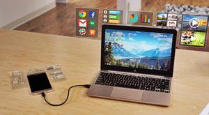Dispozitivul care îți transformă telefonul în laptop pentru un preț modest