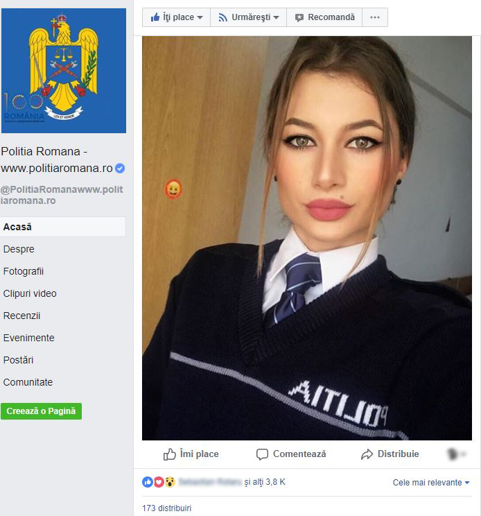 Politia Romana politista sexy
