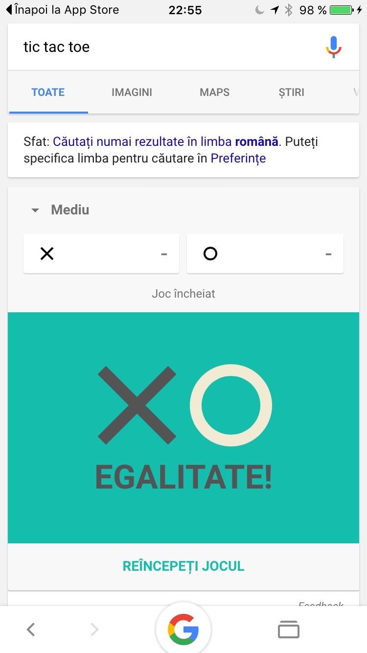 google tic tac toe x și zero