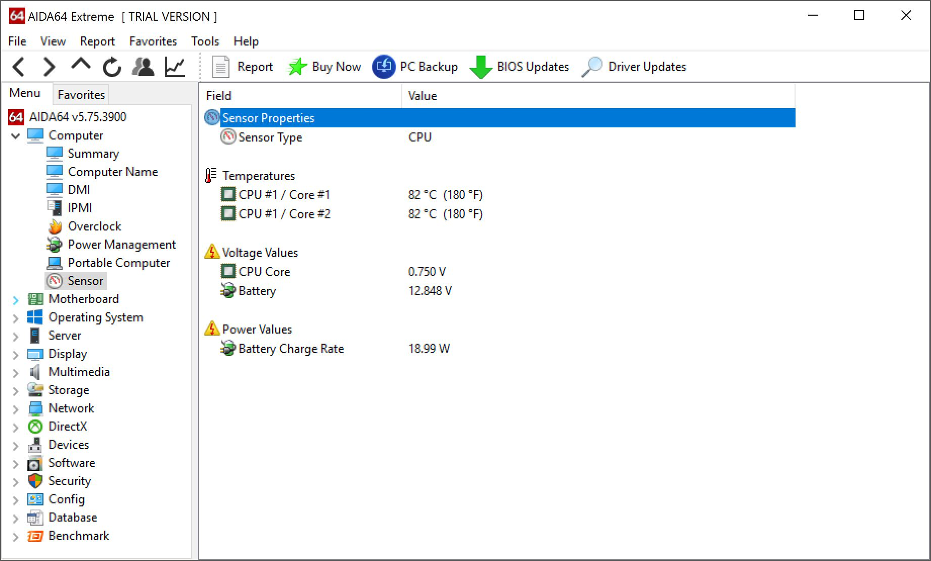 AIda64 temperatura de ce se încălzește un laptop