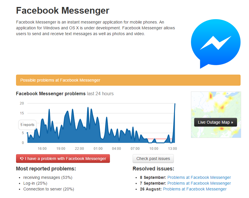Probleme Facebook Messenger