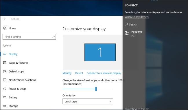 Windows 10 wireless display miracast