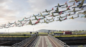 Cum arată 8 ore de trafic aerian surprinse într-o singură imagine