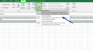 """Cum """"îngheți"""" linii de tabel în Excel, capete de tabel sau coloane"""