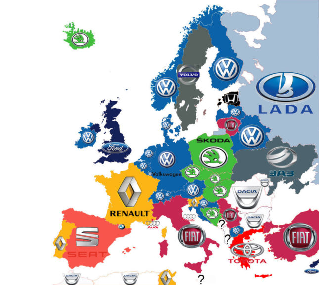 harta europa 11