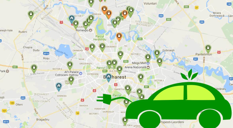 Aceasta Este Harta Tuturor Stațiilor De Incărcare Pentru Mașini