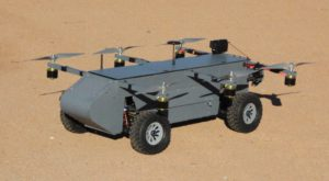 AT Panther este o dronă hibridă ce zboară și se deplasează pe roți