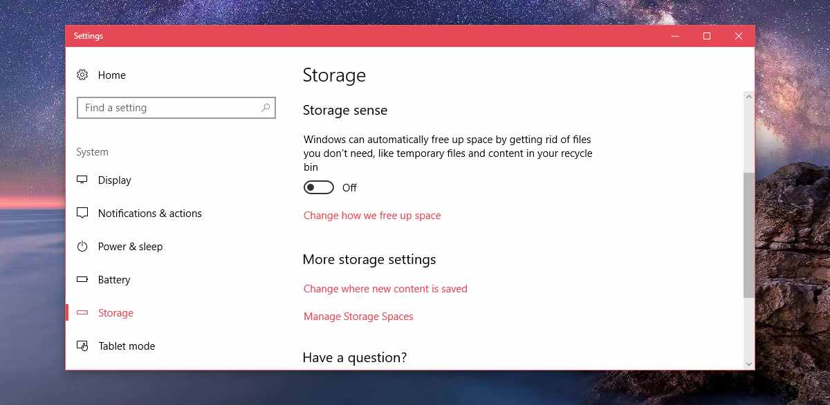 windows 10 curatenie storage-sense