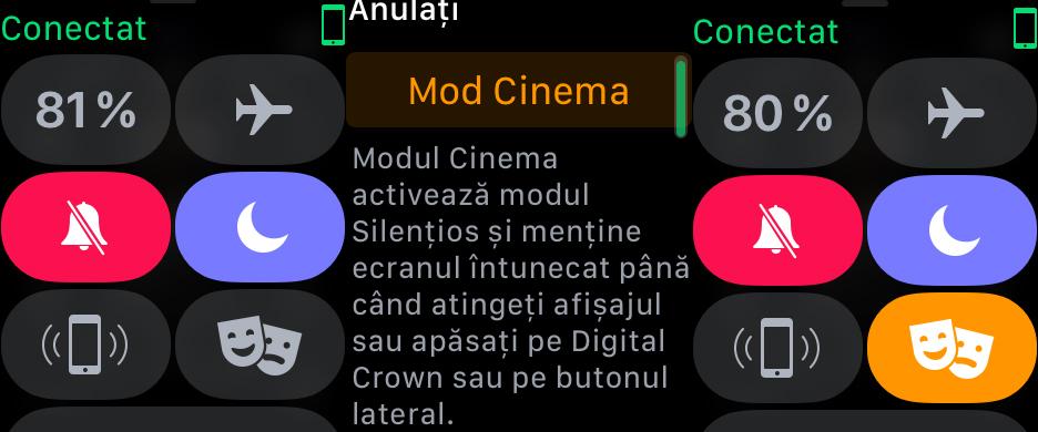 Cum activezi modul cinema pe Apple Watch