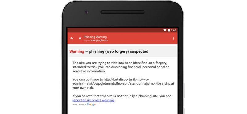 gmail pentru android phishing