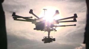 dronă prăbuișită curent electric