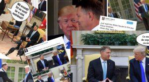 Cele mai bune meme cu întâlnirea dintre Klaus Iohannis și Donald Trump