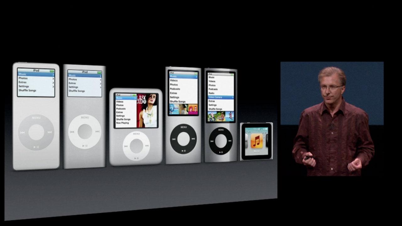 Apple iPod-nano-evolution-2005-2011
