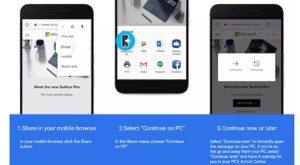 Windows 10 îți va permite să continui activitățile pe care le începi pe Android