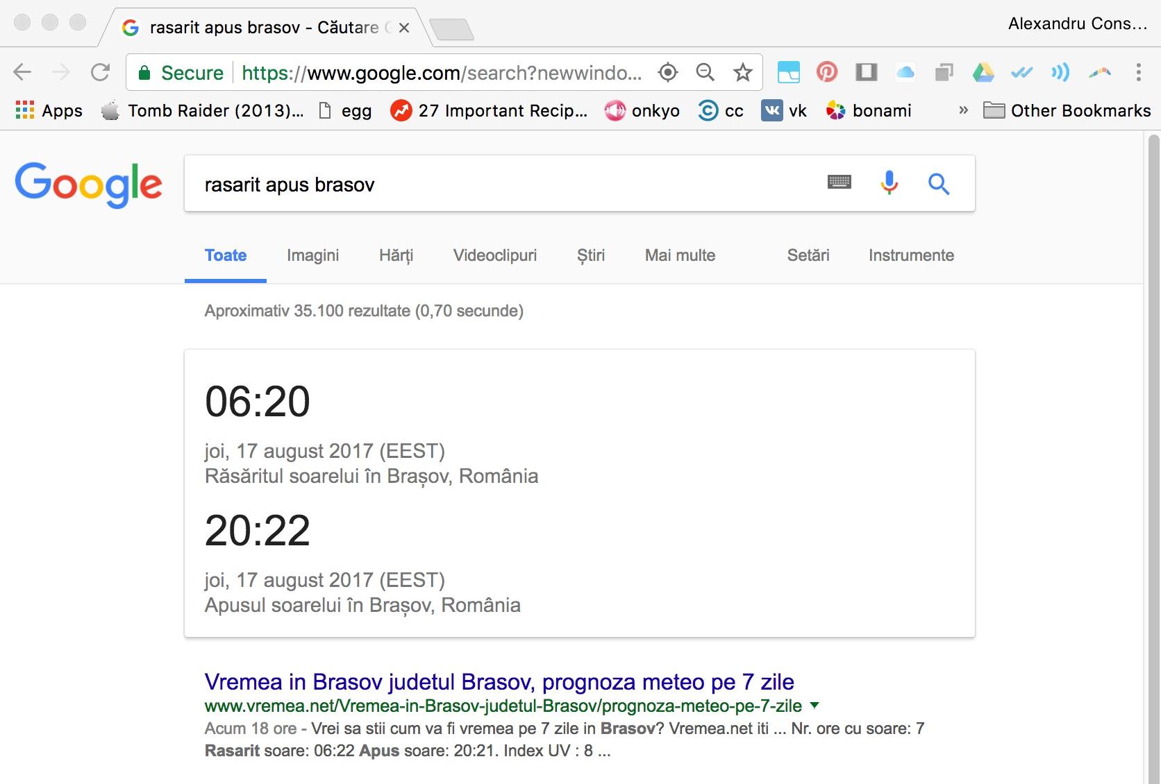 6 rasarit apus cum cauti pe Google