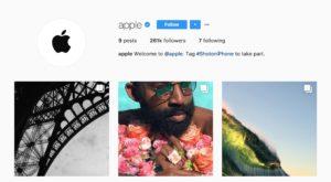 Apple intră pe Instagram, dar contul nu vine cu ce te așteptai