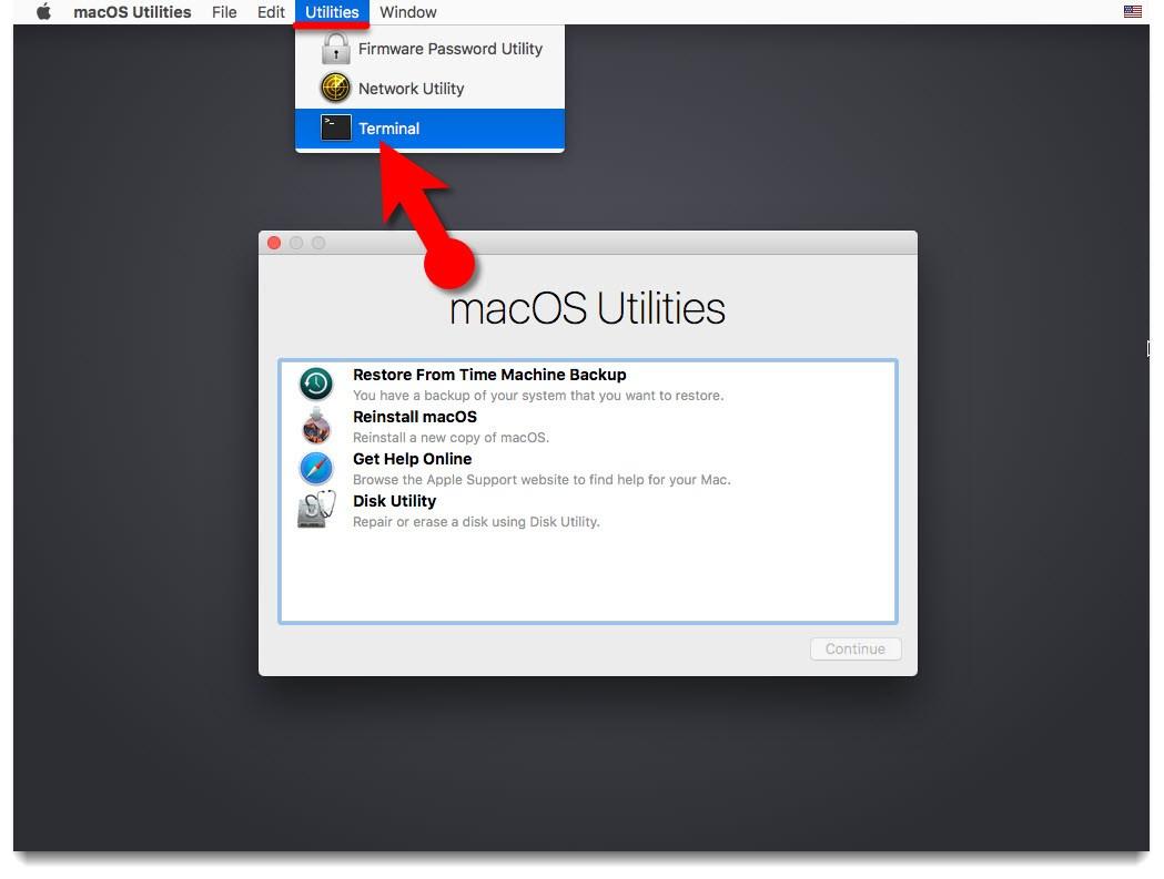 Cum resetezi parola la Mac terminal