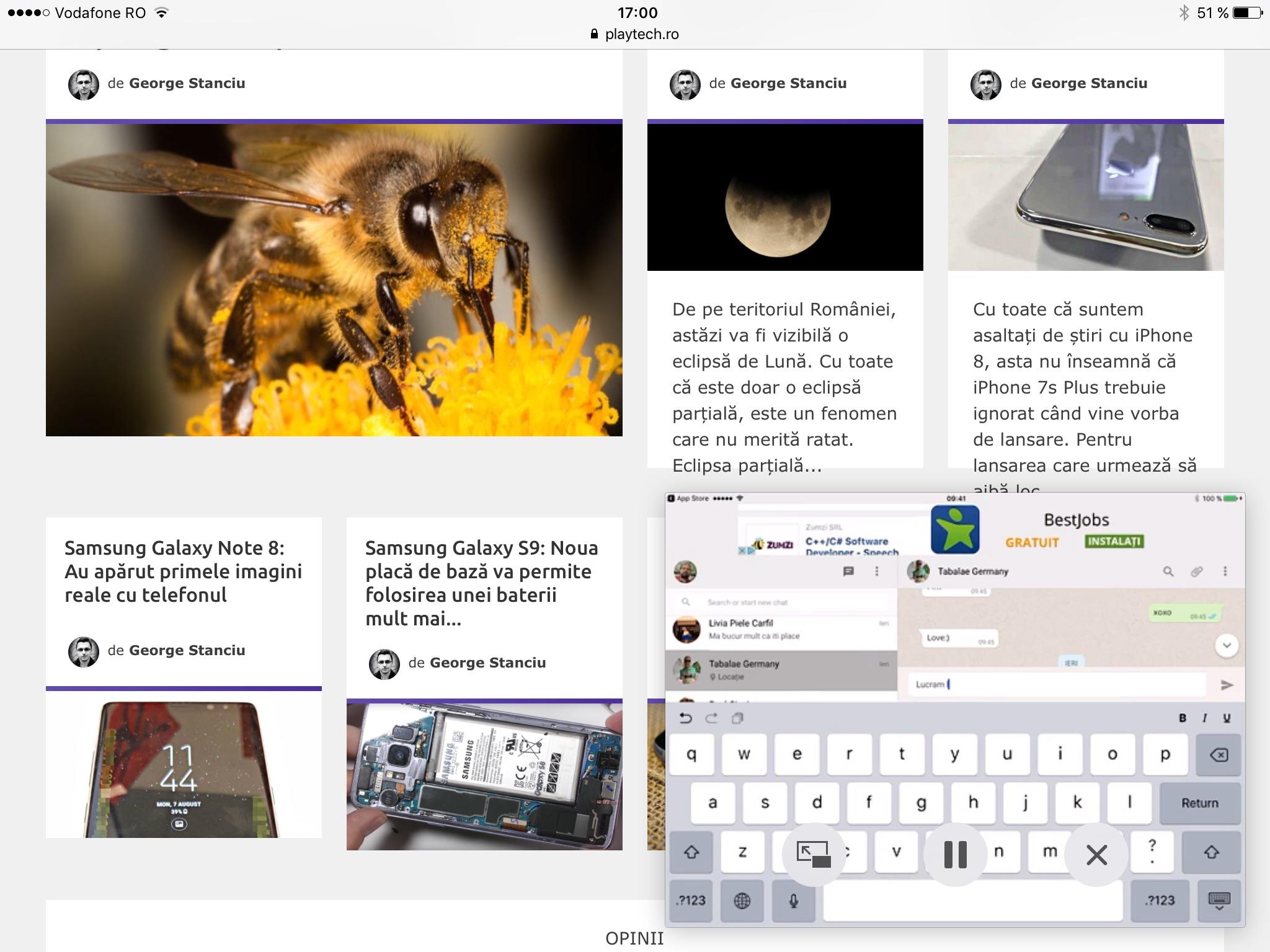 Cum te uiți la clipuri de pe YouTube în fereastră pe iPad