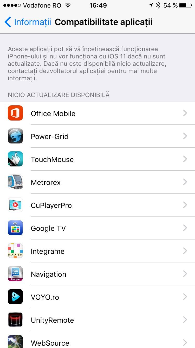aplicații care nu vor funcționa pe iOS 11