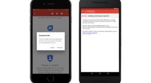 Gmail te scapă de tentative de phishing pe mobile