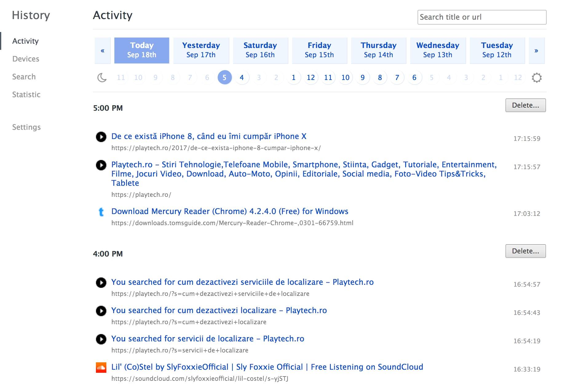 Cum găsești o pagină web în istoricul de navigare mai ușor