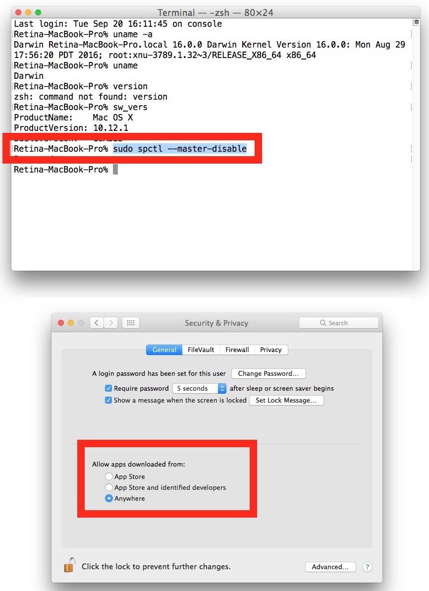end Cum dezactivezi Gatekeeper și instalezi aplicații de oriunde