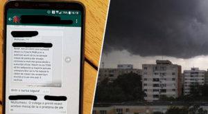 Pe Facebook și WhatsApp circulă dezinformări despre furtuna din București