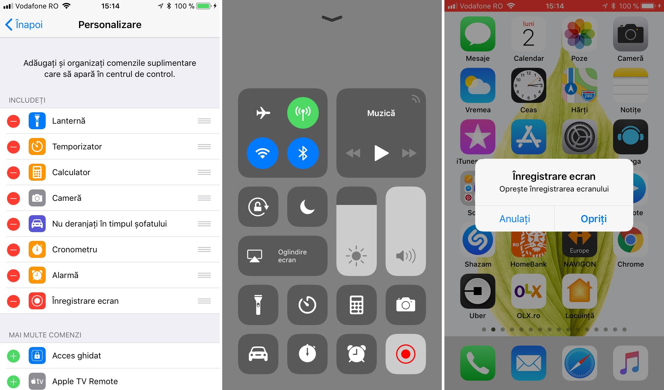 Cum inregistrezi activitatea de pe ecran în iOS 11