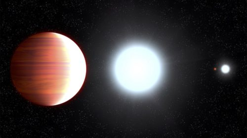 Hubble a descoperit o planetă unde ninge cu zăpadă metalică