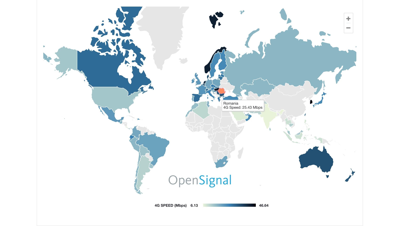 Cât de bine stă românia la semnal 4G