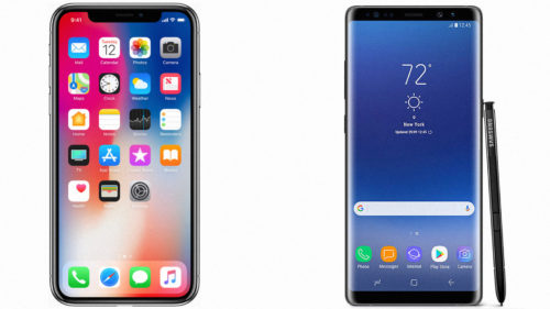 iPhone X versus Galaxy Note 8: care este mai rapid pe internet 4G