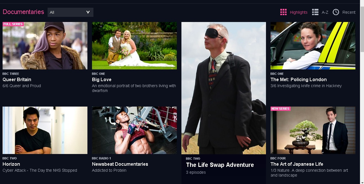 BBC iplayer choices