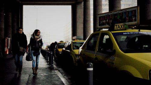 Protest taximetristi anti-Uber