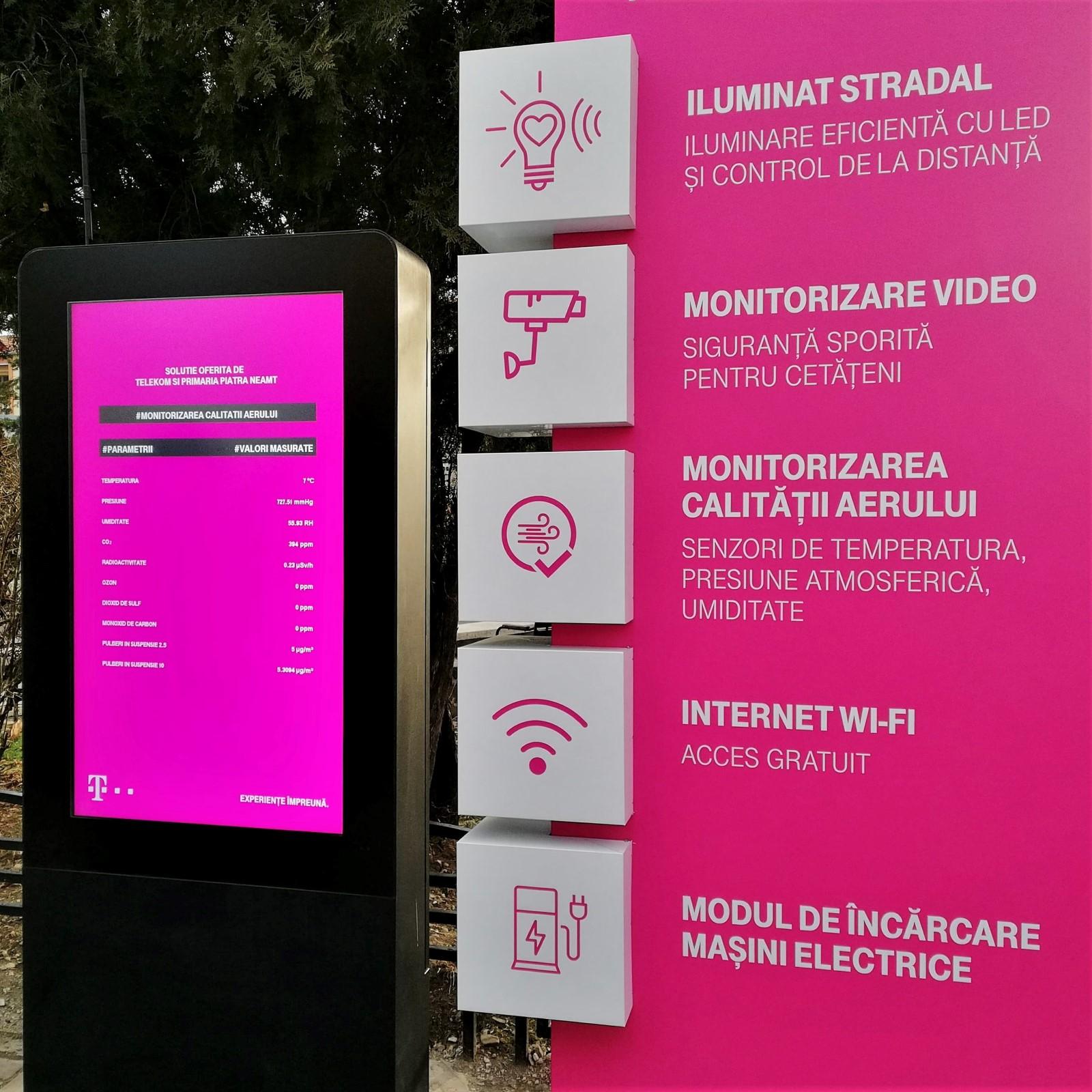 Telekom smart city optiuni Piatra Neamt