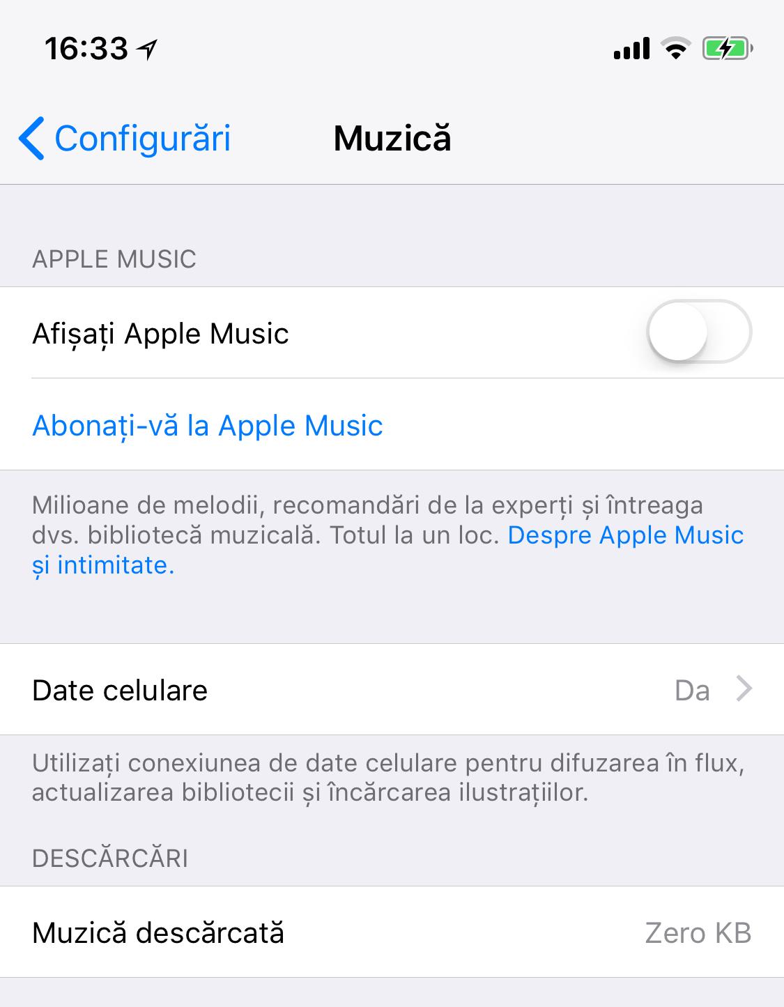 Cum scapi de Apple Music din configurări