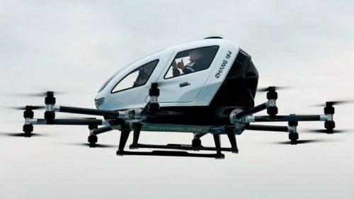 Drona care transportă oameni poate fi taxiul zburător autonom din viitor
