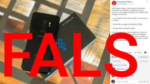Țeapa cu Vodafone și Samsung Galaxy S9 fraierește români pe Facebook
