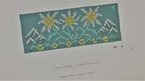 floarea de colt google doodle