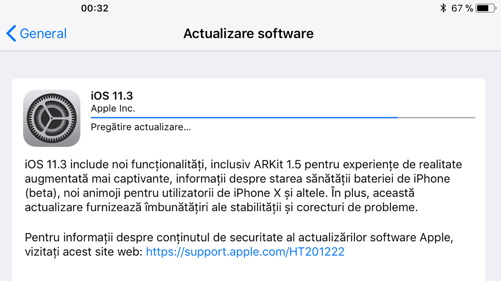 iOS 11.3 update copy