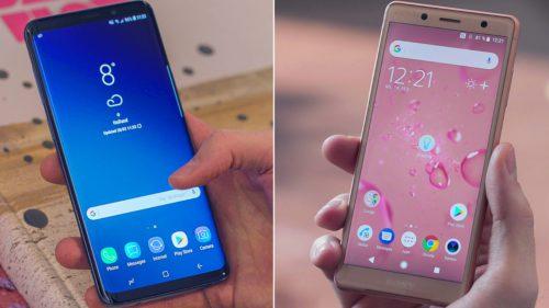 "Samsung Galaxy S9 vs. Sony Xperia XZ2: ""monștri"" care trag la 960 fps"