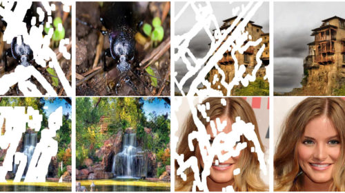 Inteligența artificială care corectează poze din care lipsesc porțiuni întregi