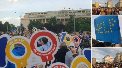 Protest în București: ce acuză oamenii din Piața Victoriei