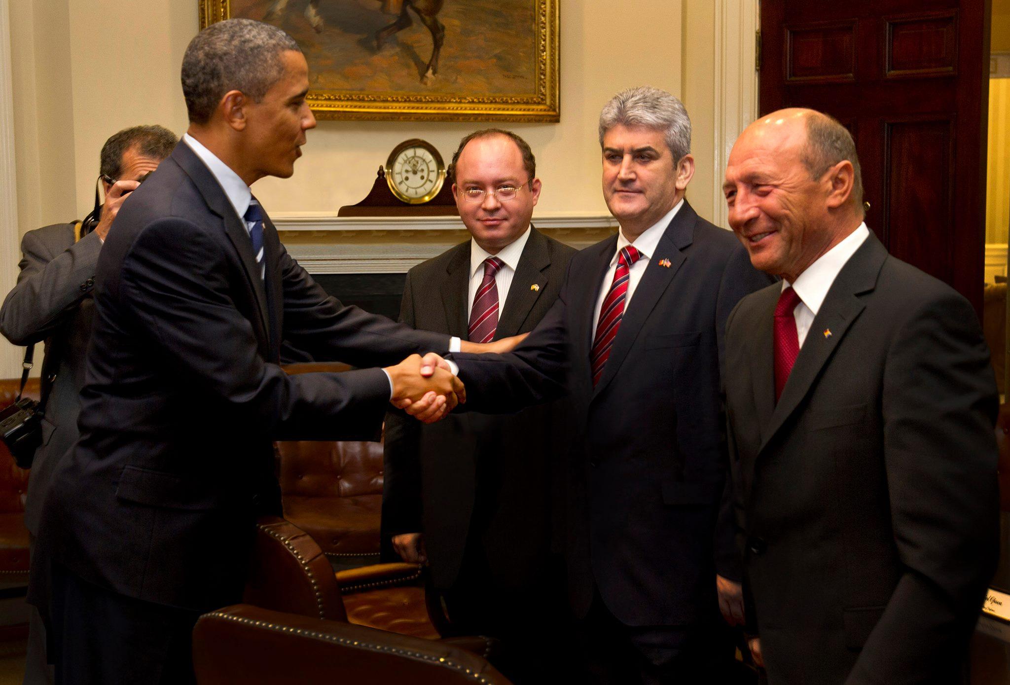 Gabriel Oprea Obama Traian Basescu