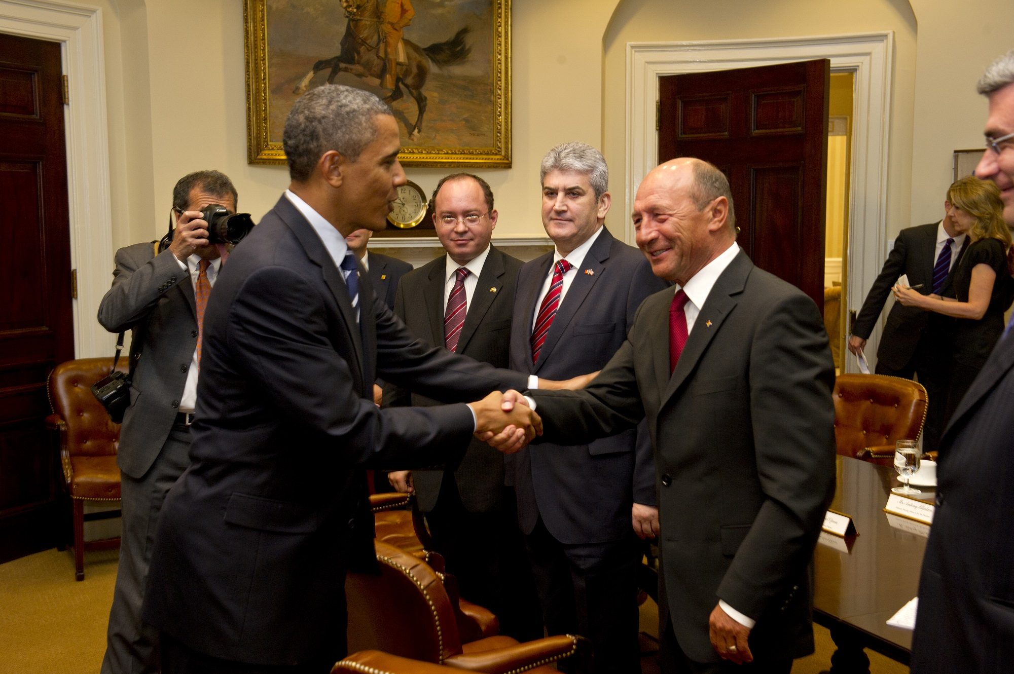 Traian Basescu Obama Oprea