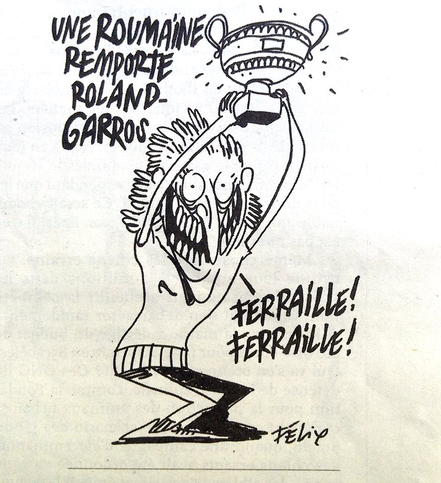 caricatura charlie hebdo simona halep
