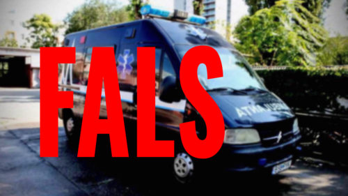 """Ce spune Poliția despre """"ambulanța neagră"""" care a speriat România"""