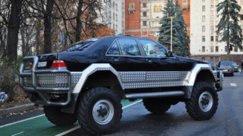 """""""Tancul"""" Mercedes Clasa S creat de ruși e o mașină de vis"""