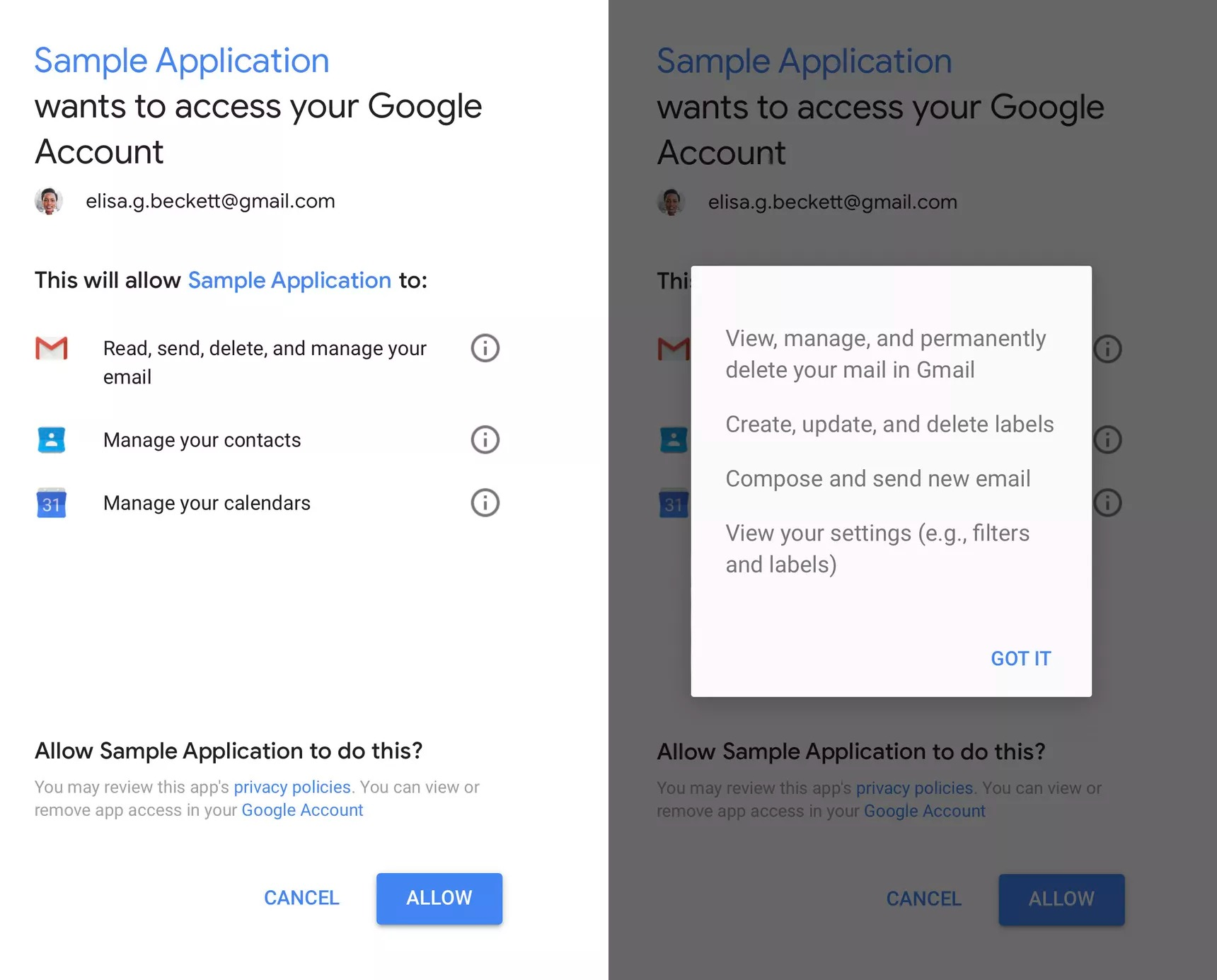 gmail google acces SampleApplication_new