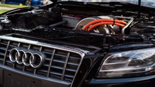 Audi motor tesla