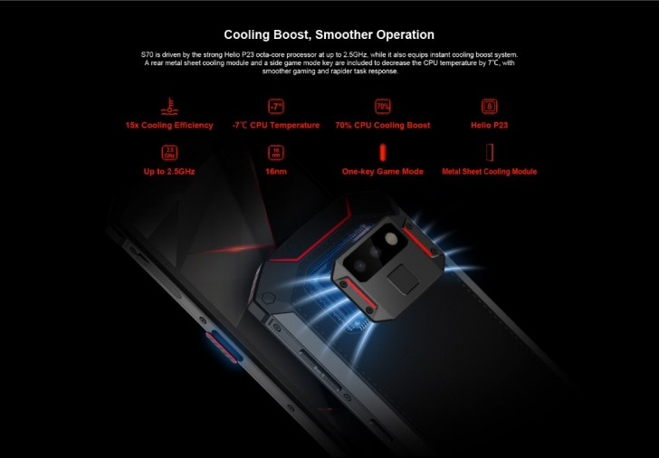 Dogee S70 gaming smartphone